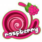 Dessert raspberry.