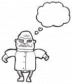 desenhos animados de homem ogro assustador