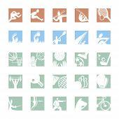 sport icon set color