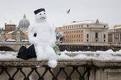 Snowman In Rome.
