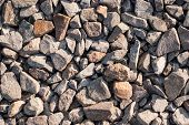 Stone Rubble And Gravel Closeup As An Abstract Background poster