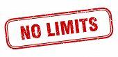 No Limits Stamp. No Limits Square Grunge Sign. No Limits poster