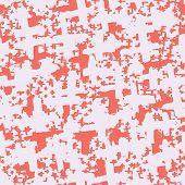 Red And White Tie Dye Seamless Pattern.  Shibori Seamless Print. Watercolor Hand Drawn Batik.  Handm poster
