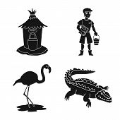 Vector Design Of Fauna And Entertainment Icon. Collection Of Fauna And Park Stock Symbol For Web. poster