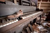 Old Piano And Shoe