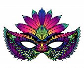 Bright Carnival Mask. Perfect For Carnival Celebrations poster
