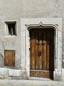 Old medieval doorway