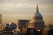 St Paul's Cathedral In London During Beautiful Winter Sunset