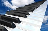 Piano  Flying In The Sky.