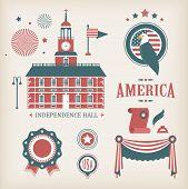 USA vector icons