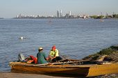 Argentinian Fisherman On Parana River