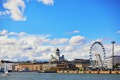 Scenic View To The Center Of Helsinki, Finland With Its Harbour And The Main Helsinki Cathedral poster