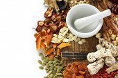 stock photo of pestle  - chinese food therapy - JPG