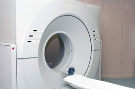 stock photo of magnetic resonance imaging  - Computer tomograph in the hospital  - JPG