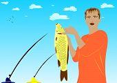 The caught fish