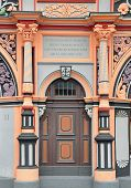 Portal Of Cranach House In Weimar