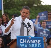 Obama Speaking At A Florida Rally