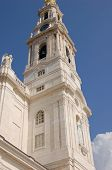 stock photo of fatima  - The Sanctuary of Our Lady of Fatima a Roman Catholic Marian basilica in Fatima Portugal - JPG