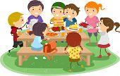Illustration of Kids Having a Picnic