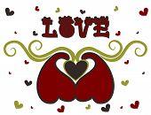 Valentine's Day Card, Vector Illustration