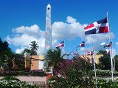 Central square obelisk in La Romana