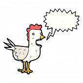 cartoon squawking chicken