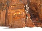 Ruins In Mountains Of Petra