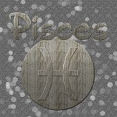 Pisces Symbol with Grey Background and Bokeh