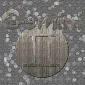 Gemini Symbol with Grey Background and Bokeh