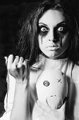 stock photo of rag-doll  - Horror scene - JPG