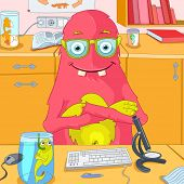 Cartoon Character Funny Monster. Vector Illustration. EPS 10.