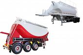 pic of dumper  - dumper semitrailer isolated under the white background - JPG