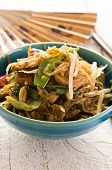 glass noodles with beef stir-fried
