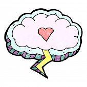 cartoon love struck cloud design