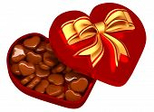 chocolate in a box as a gift for Valentine's Day