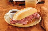 Roast Beef Sandwich Au Jus