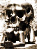 Skull On A Man