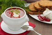 Ukrainian and Russian national borscht