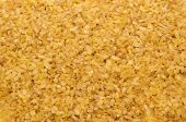 Bulgur Wheat Grains Forming Textured Background