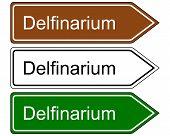 Direction Sign Dolphinarium