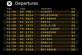 stock photo of darwin  - Departure board  - JPG