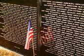 Flag At Vietnam Wall