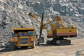 pic of iron ore  - Loading of iron ore on very big dump - JPG