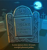 Gravestone. Halloween background.