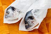 Seafood, fish - fresh sea dorada in cuisine