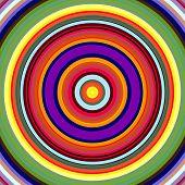 Vibrant bold color circles pattern illustration.