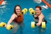 Mum With A Daughter In Aqua Aerobics