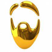Golden beard icon
