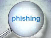 Privacy concept: Phishing with optical glass