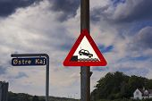 Car Warning Sign